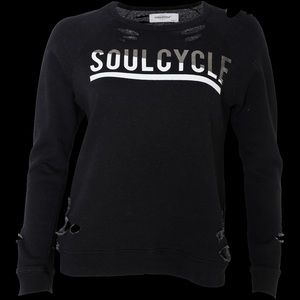 SoulCycle Distressed Crewneck